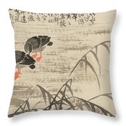 Foraging In The Wild Goose River Throw Pillow