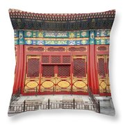 Forbidden City Building Detail Throw Pillow