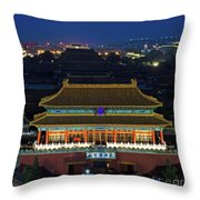 Forbidden City By Night Throw Pillow
