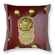 Forbidden City Door Throw Pillow