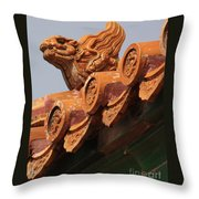 Forbidden City Guardian Throw Pillow