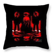 Forbidden City Waltz Throw Pillow