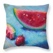 Forbidden Fruit Throw Pillow by Talya Johnson