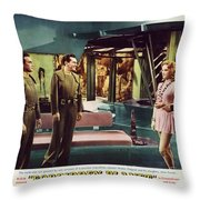 Forbidden Planet In Cinemascope Retro Classic Movie Poster Indoors Throw Pillow