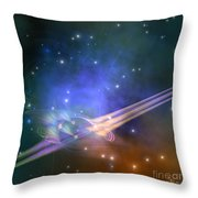 Force Lines Throw Pillow