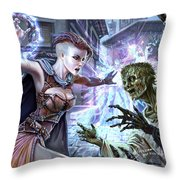 Forcemage Apprentice Throw Pillow