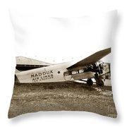 Ford 4-at-a Maddux Air Lines Los Angeles Circa 1928 Throw Pillow