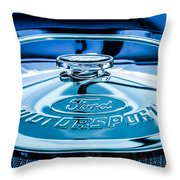 Ford Air Filter Lid Throw Pillow