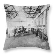 Ford Auto Factory Throw Pillow