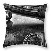Ford Broken Headlamp Throw Pillow by Barry C Donovan