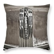 Ford Chrome Grille Throw Pillow