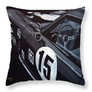 Ford Cobra Racing Coupe Throw Pillow
