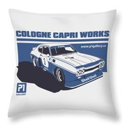 Ford Cologne Capri Works Throw Pillow