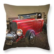 Ford Coupe Cartoon Photo Abstract Throw Pillow