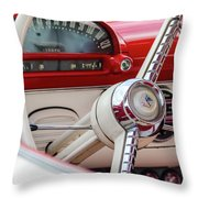 Ford Crown Victoria Stering Wheel Throw Pillow