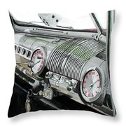 Ford Dash Throw Pillow