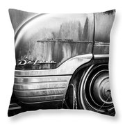Ford Deluxe Fender Black And White Throw Pillow