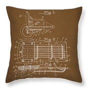 Ford Engine Lubricant Cooling Attachment Patent Drawing 1a Throw Pillow