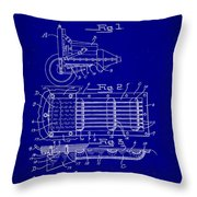 Ford Engine Lubricant Cooling Attachment Patent Drawing 1c Throw Pillow