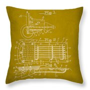 Ford Engine Lubricant Cooling Attachment Patent Drawing 1d Throw Pillow