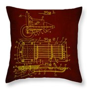 Ford Engine Lubricant Cooling Attachment Patent Drawing 1h Throw Pillow
