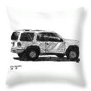 Ford Explorer Throw Pillow
