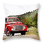 Ford F-1 Throw Pillow