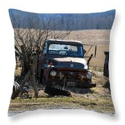 Ford F-600 Throw Pillow