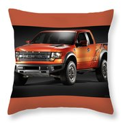 Ford F150 Svt Raptor Throw Pillow