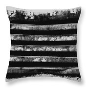 Ford Grill Throw Pillow by Barry C Donovan