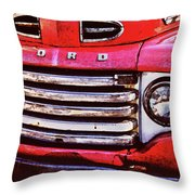 Ford Grille Throw Pillow by Michael Thomas