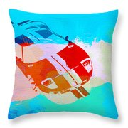 Ford Gt Watercolor  Throw Pillow