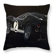 Ford Gt40 Racing Throw Pillow