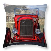 Ford Hiboy Hot Rod Throw Pillow