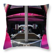 Ford Hot Rod Grille Throw Pillow