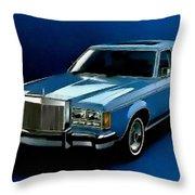 Ford Lincoln Versailles 1981 - American Dream Cars Catus 1 No. 2 H B Throw Pillow