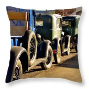 Ford Lineup Throw Pillow