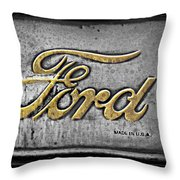 Ford Made In The Usa Throw Pillow