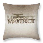 Ford Maverick Badge Throw Pillow