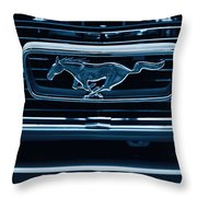Ford Mustang Grille Throw Pillow