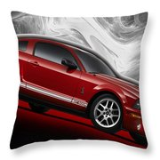 Ford Mustang Gt 500 3 Throw Pillow