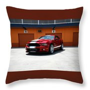 Ford Mustang Shelby Gt500 Throw Pillow