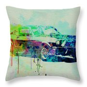Ford Mustang Watercolor 2 Throw Pillow