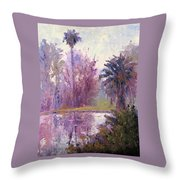 Ford Park-cloudy Morning Throw Pillow