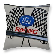 Ford Racing Emblem Throw Pillow