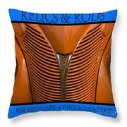 Ford 14 - Relics And Rods Throw Pillow