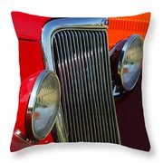 Ford Roadster Grille Throw Pillow