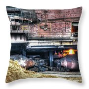 Ford Rouge Plant Steelmill Throw Pillow