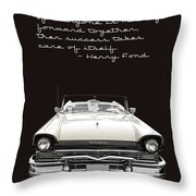 Ford Success Poster Throw Pillow