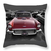 Ford Thunderbird Red V1 Throw Pillow